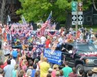 4th of July_Glen Arbor_full band parade_Boonedocks float