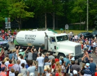 4th of July_Glen Arbor_tossed TP Deckers Plumbing_parade
