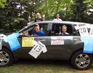 4th of July_womens world cup car decorated for Glen Arbor MI_2015