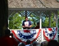 Settlers Park Flag Raising_4th of July_Glen Arbor