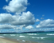fluffy-clouds over Lake Michigan