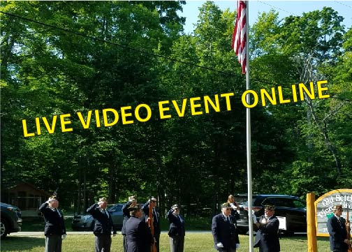 live video event image of 4th July flag raising