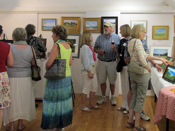 art reception at GAAC