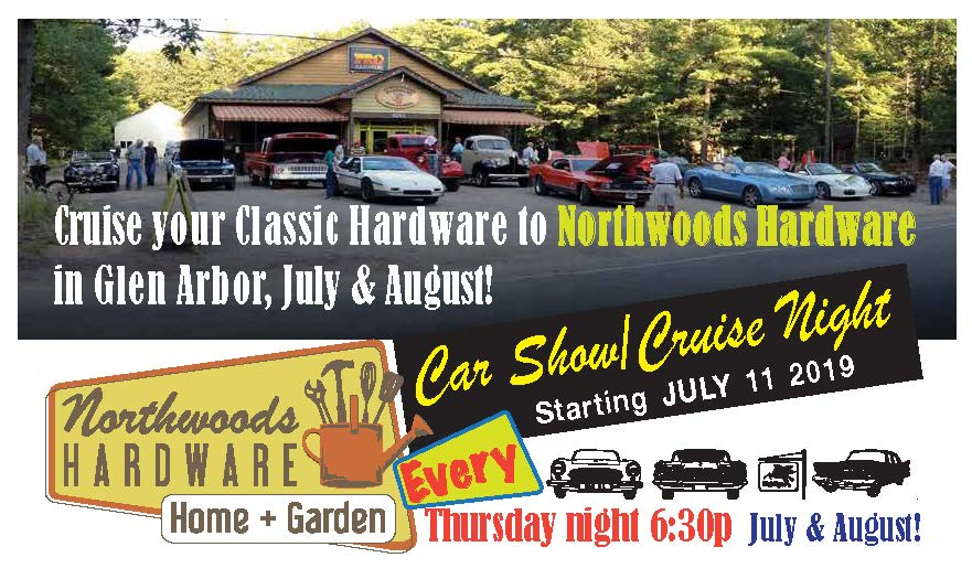 classic car show Cruise Nights in Glen Arbor