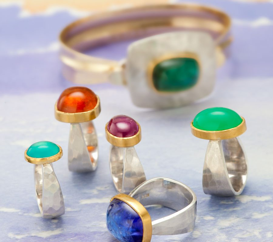 colorful rings by Becky Thatcher Designs