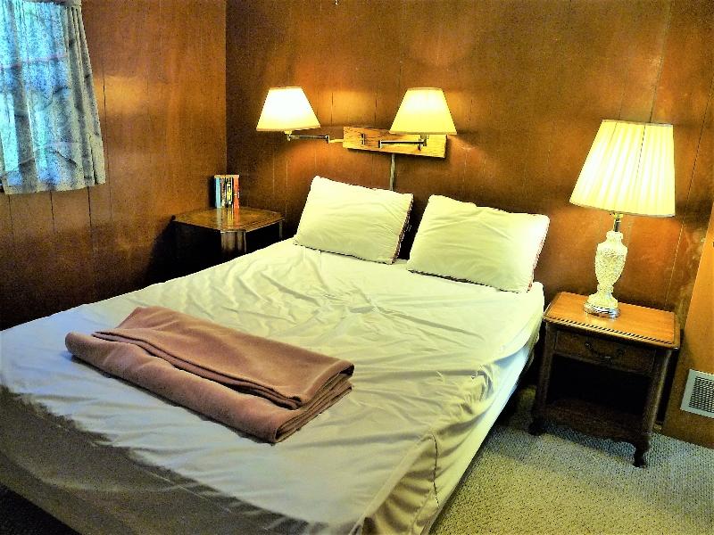 rustic bedroom at Birch Shores Resort