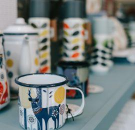 mugs and accessories close up at Coastal