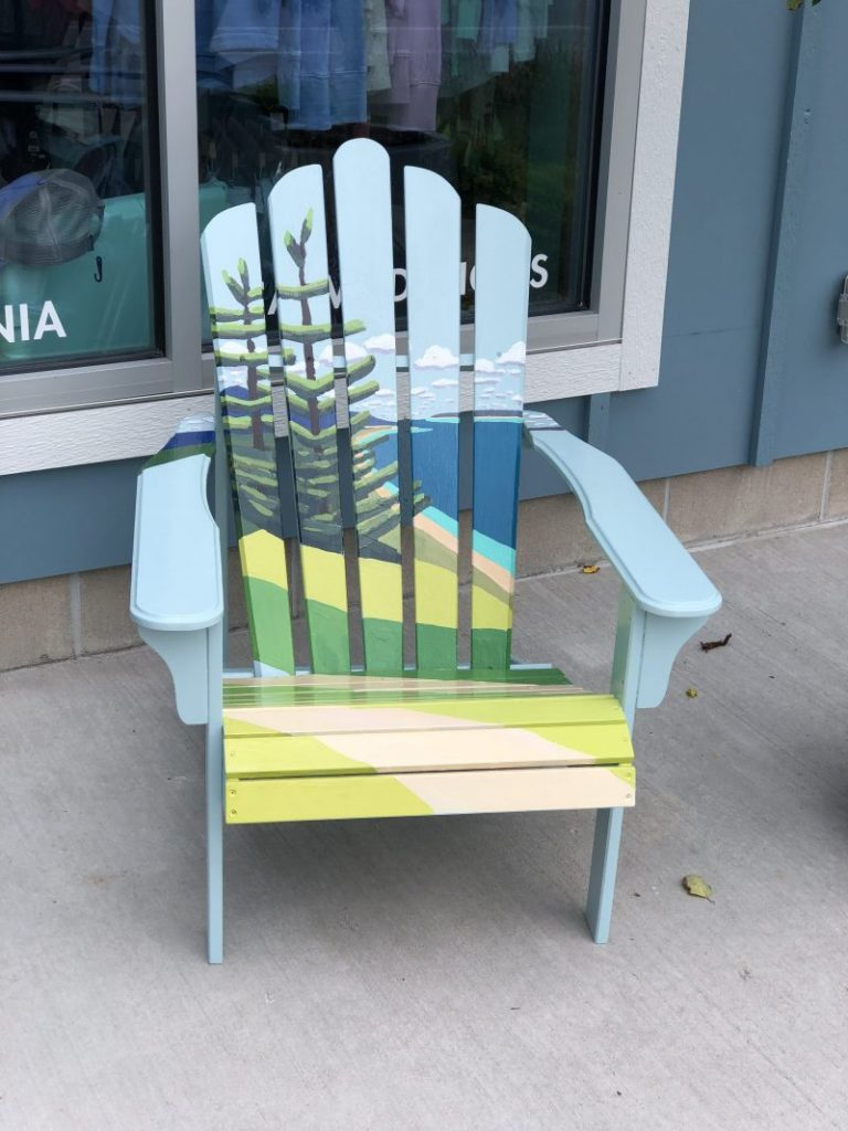 gretchen knoblock painted adirondack chair