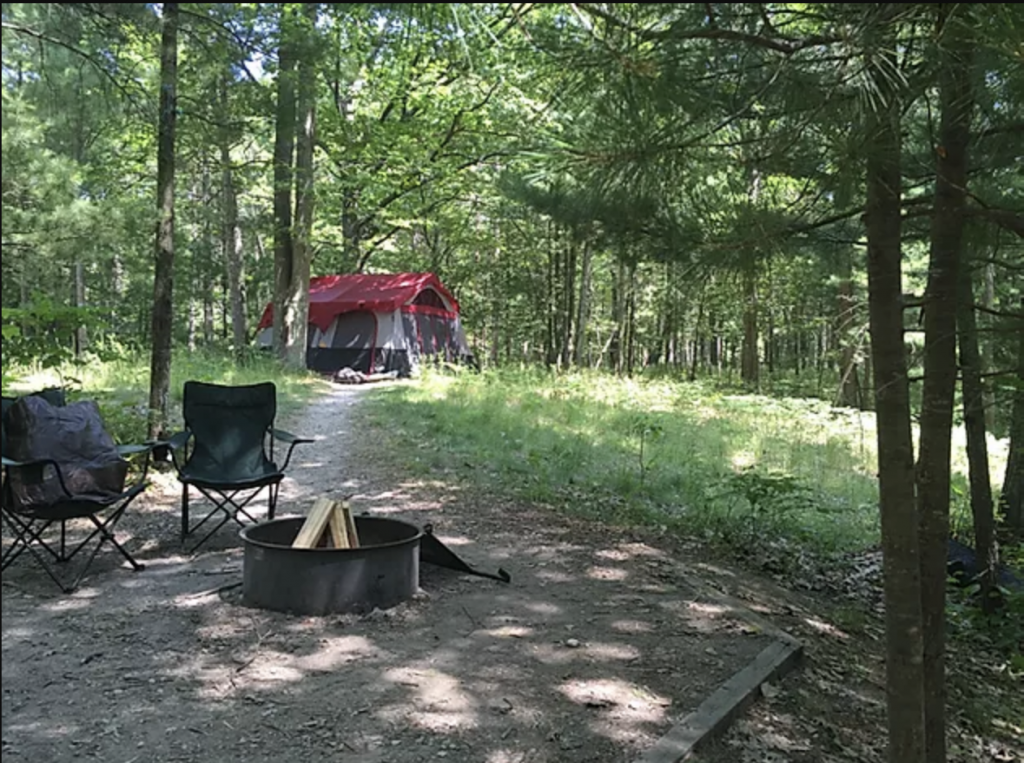 DH Day campground site, Sleeping Bear Dunes National Lakeshore