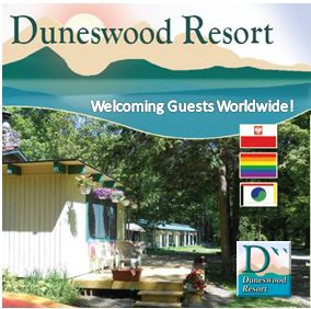 duneswood resort welcoming guests worldwide graphic