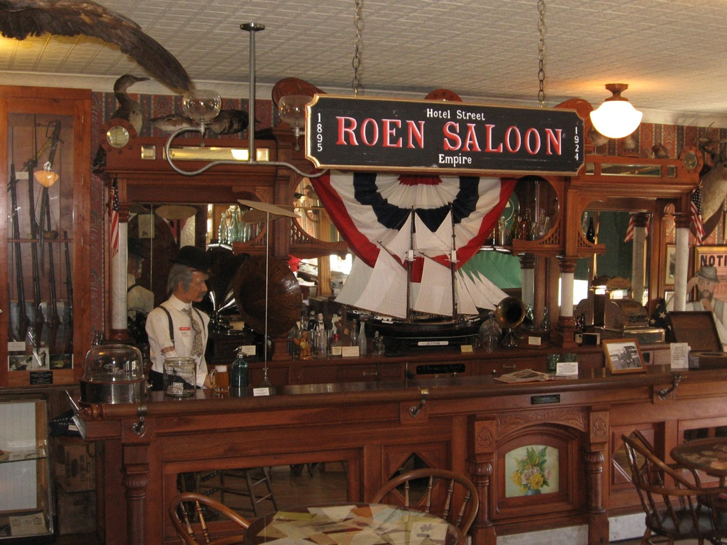 interior of old saloon empire museum