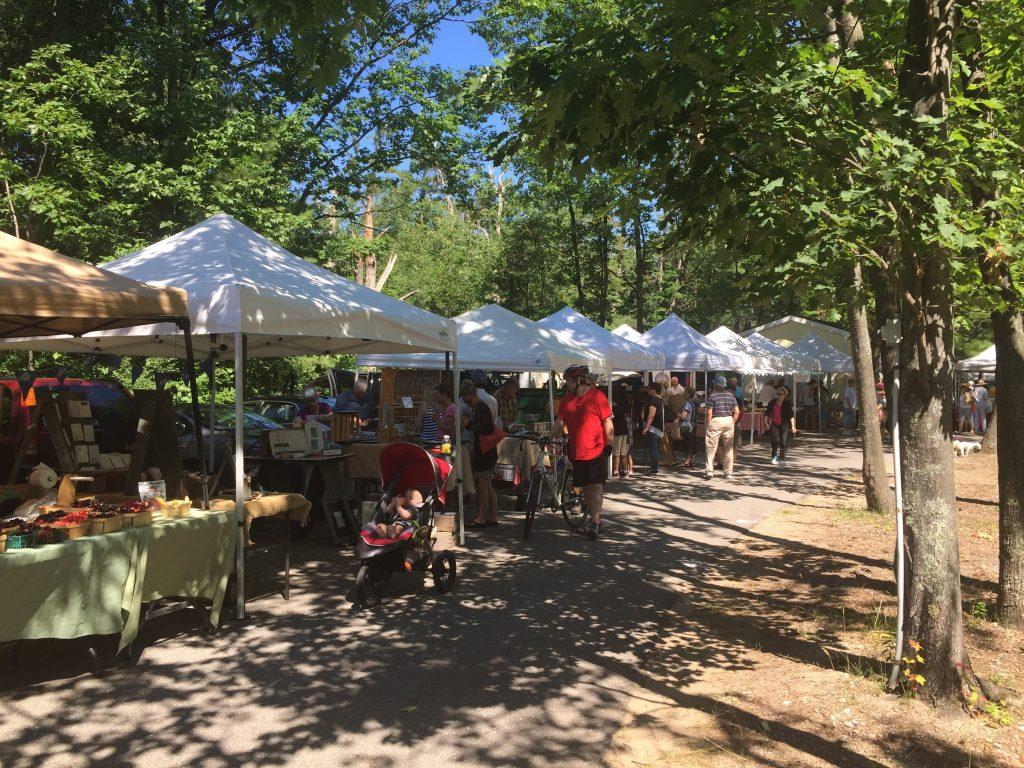 Summer farmers Market in Glen Arbor