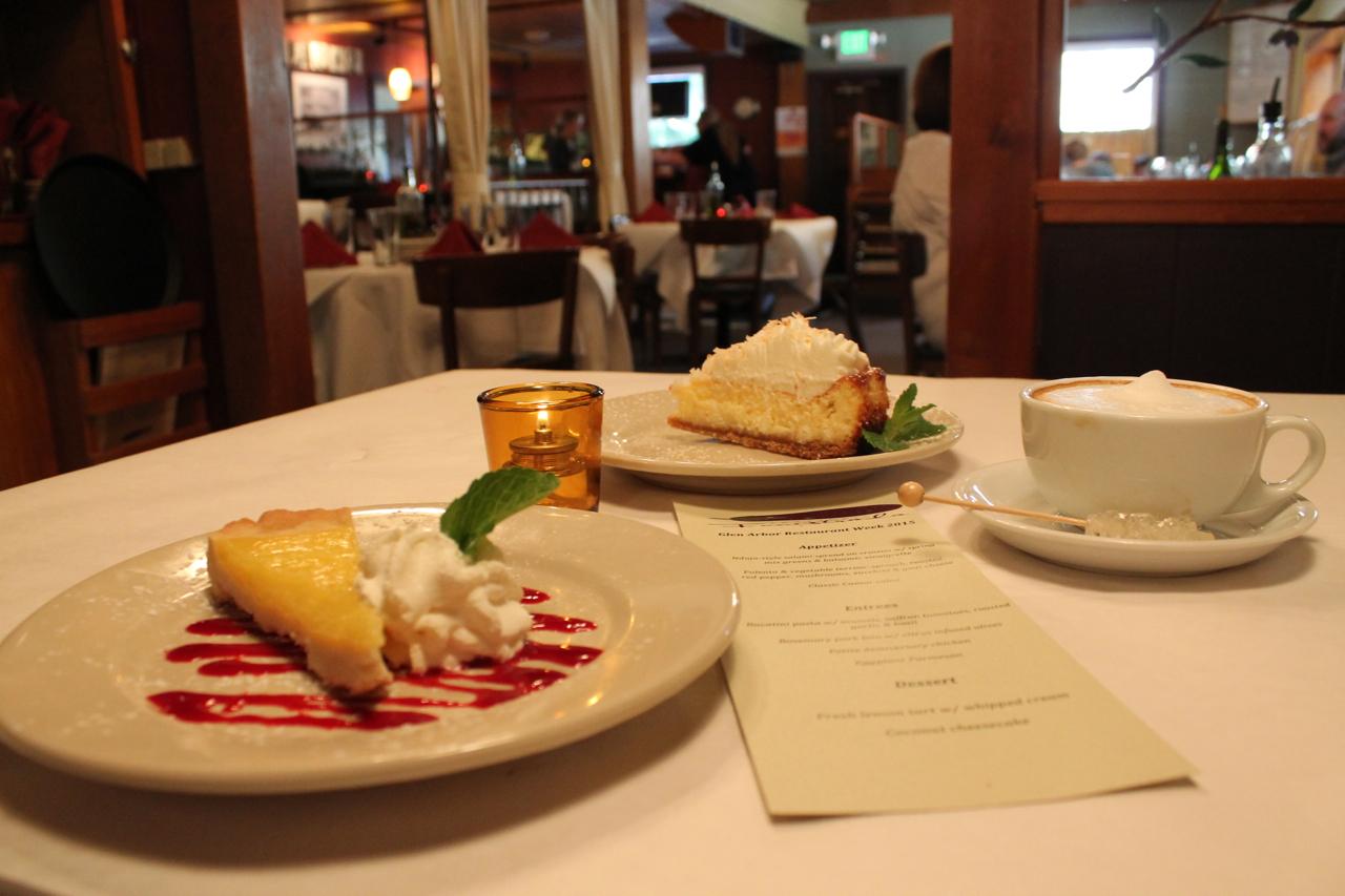 dessert at Funistrada restaurant