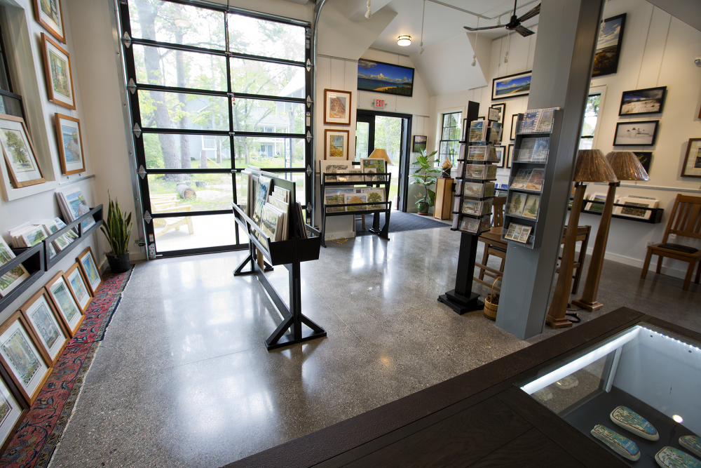interior of art gallery at Glen Arbor Artisans