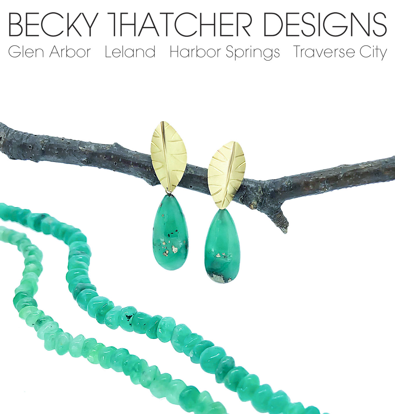 becky thatcher designs; earring and necklace/bracelet set
