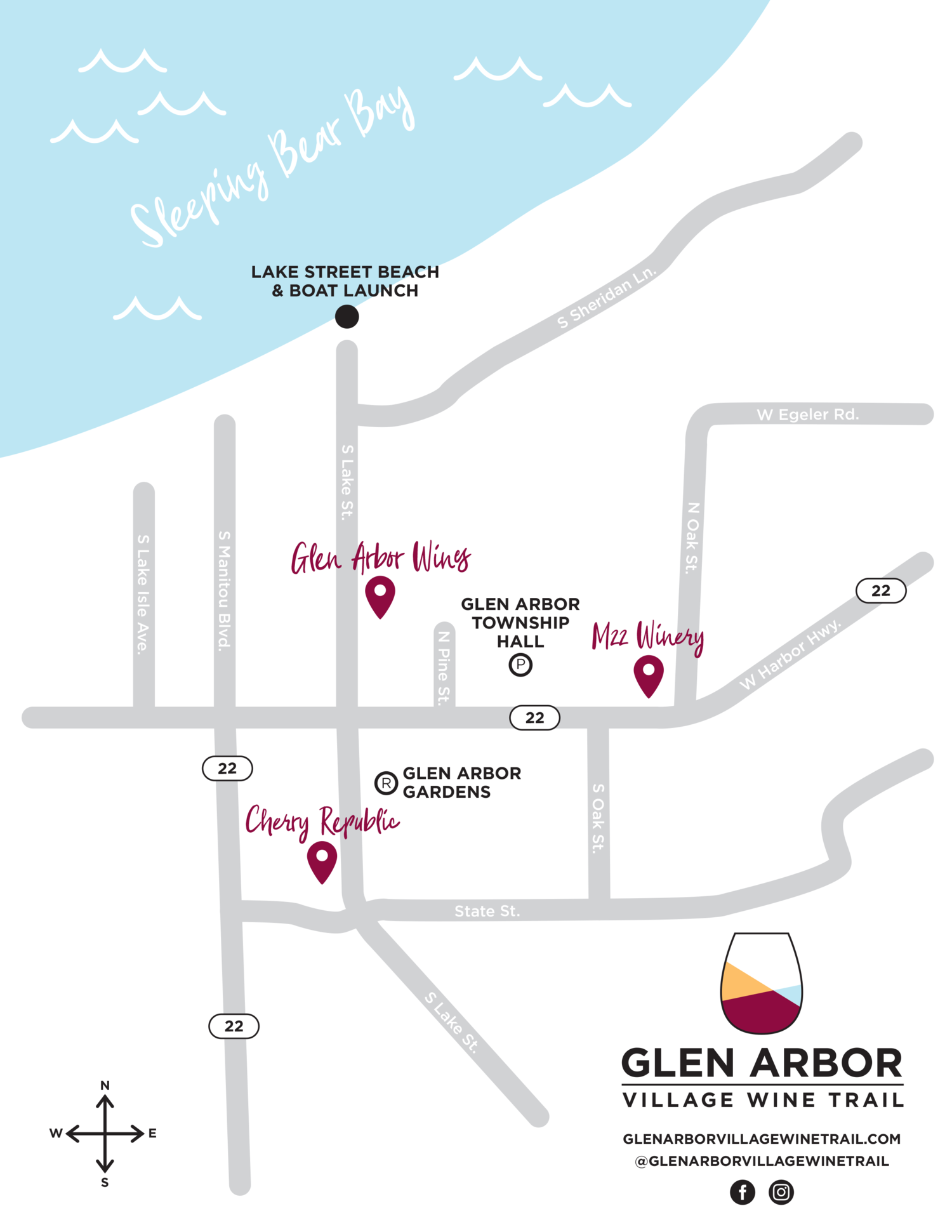 Glen Arbor Wine Trail map
