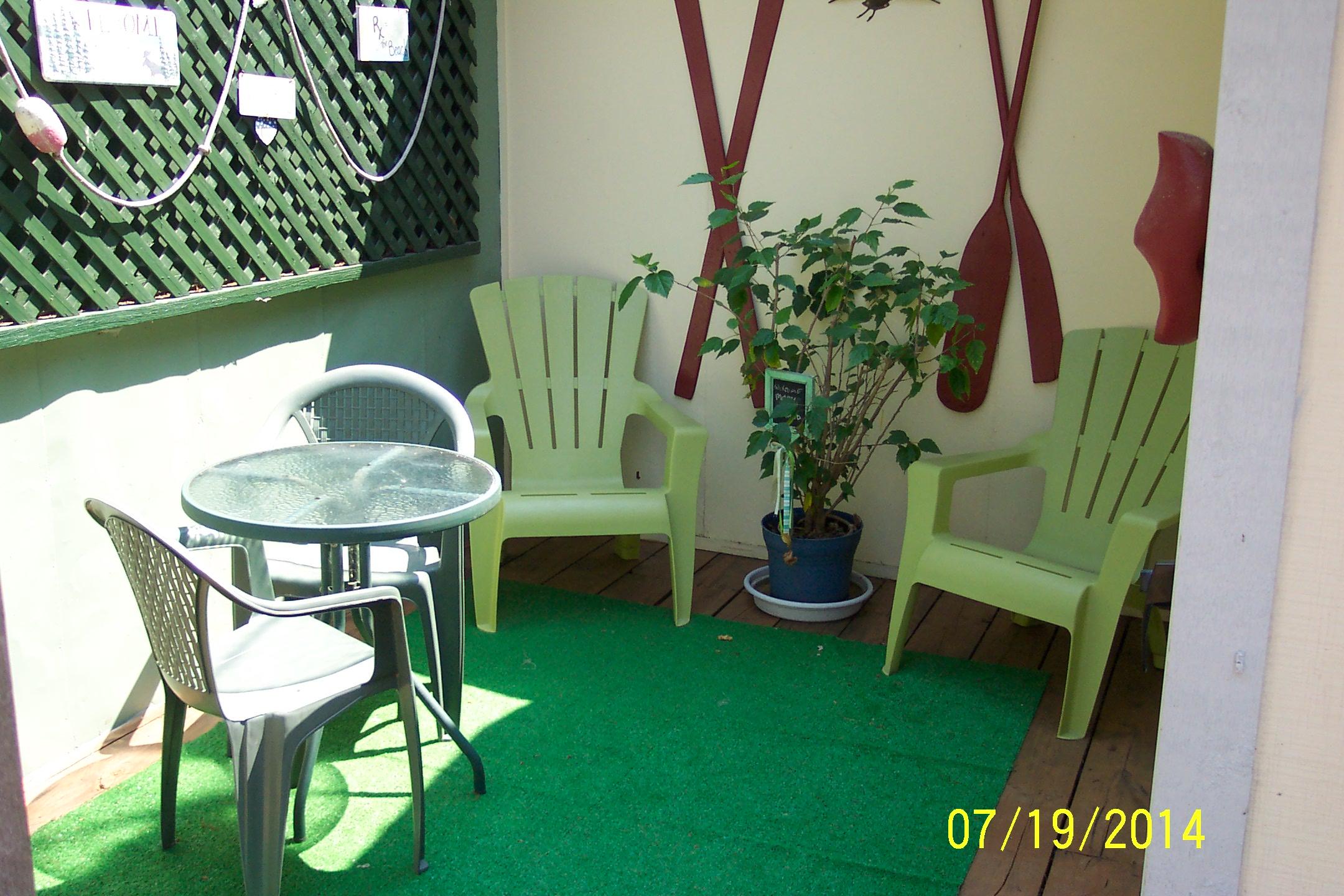 outside private patio at Grandpa's Place