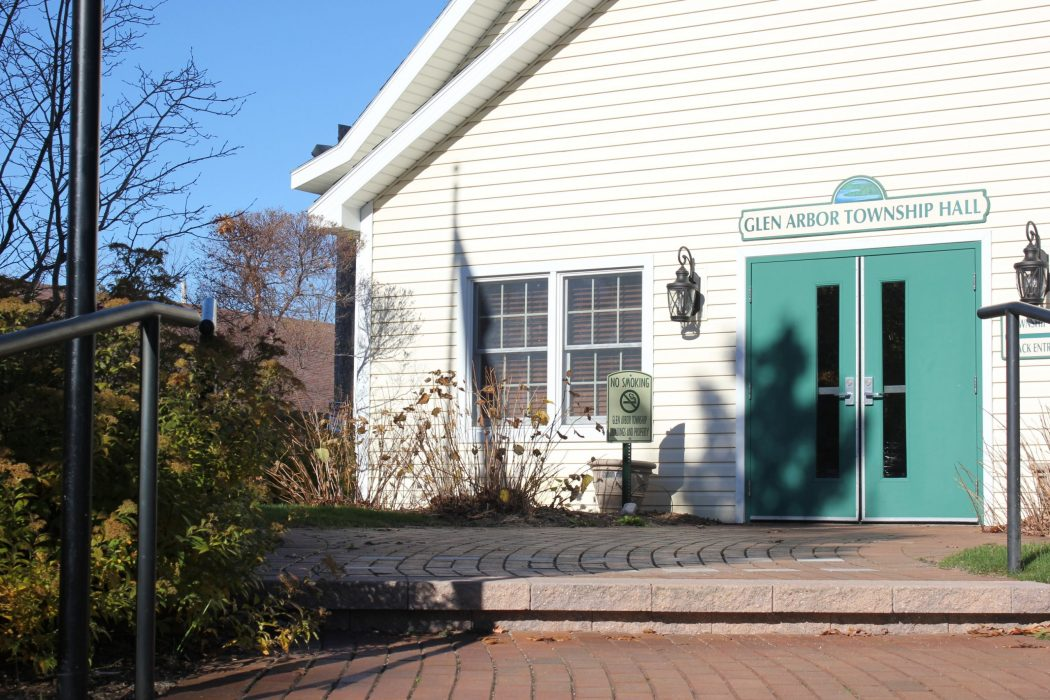 front of glen arbor town hall building