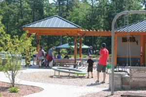 people playing at glen arbor town park playground