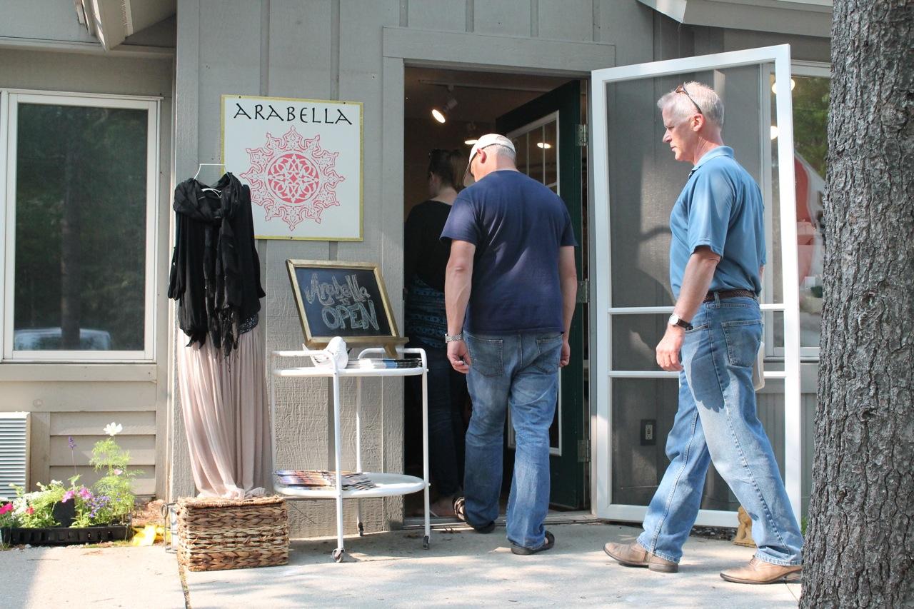 walking into Arabella store