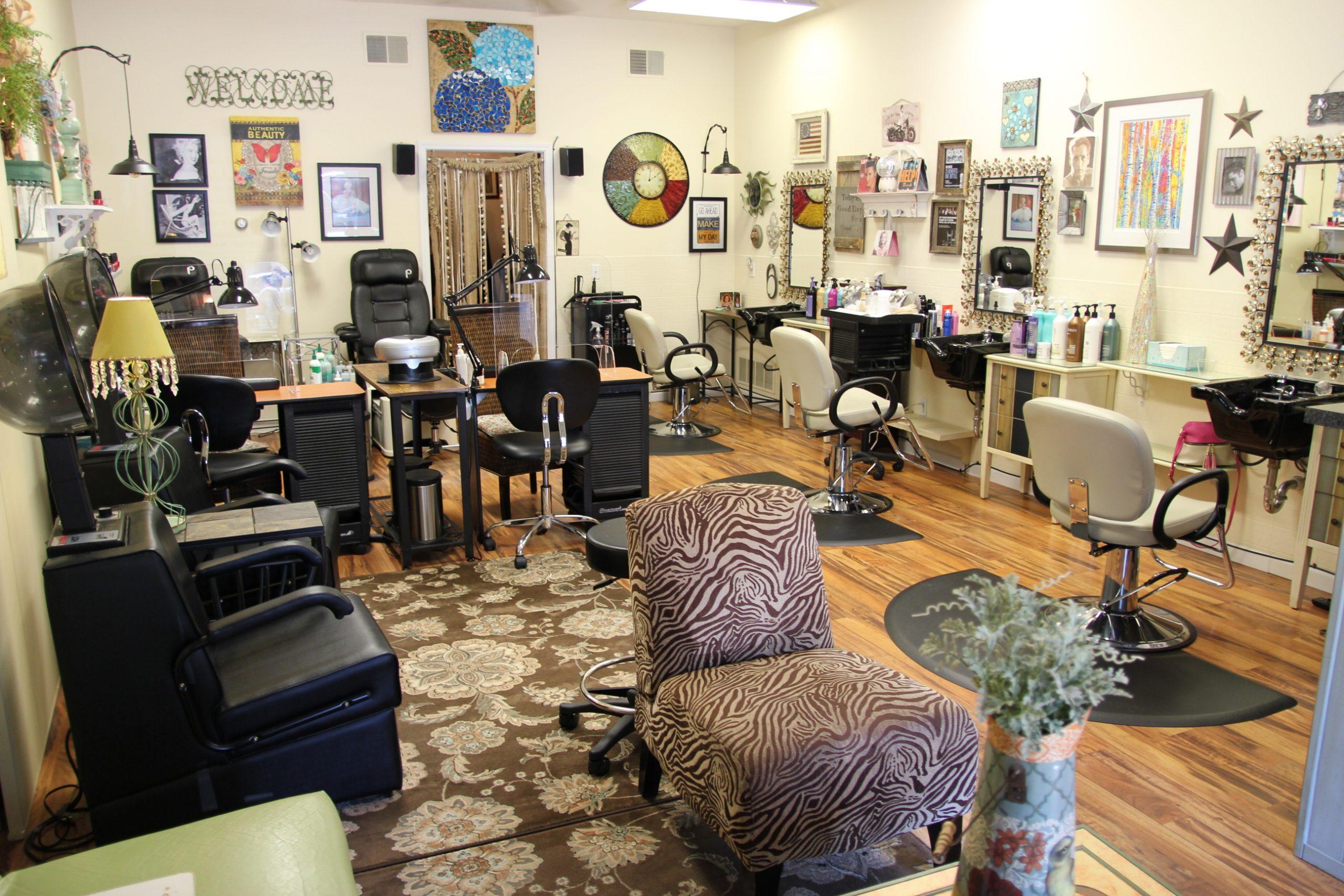 beauty salon in Glen Arbor; interior space