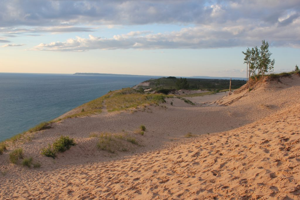 Iconic view from Pierce Stocking Drive overlooking Lake Michigan