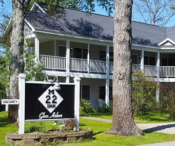 exterior photo of M22 Inn Glen Arbor