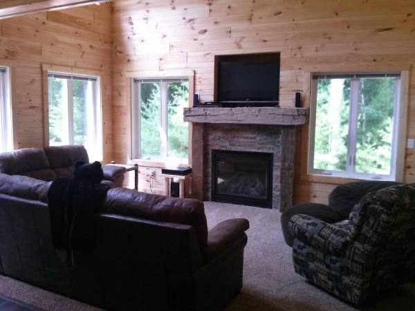 living room at a Natures Rentals