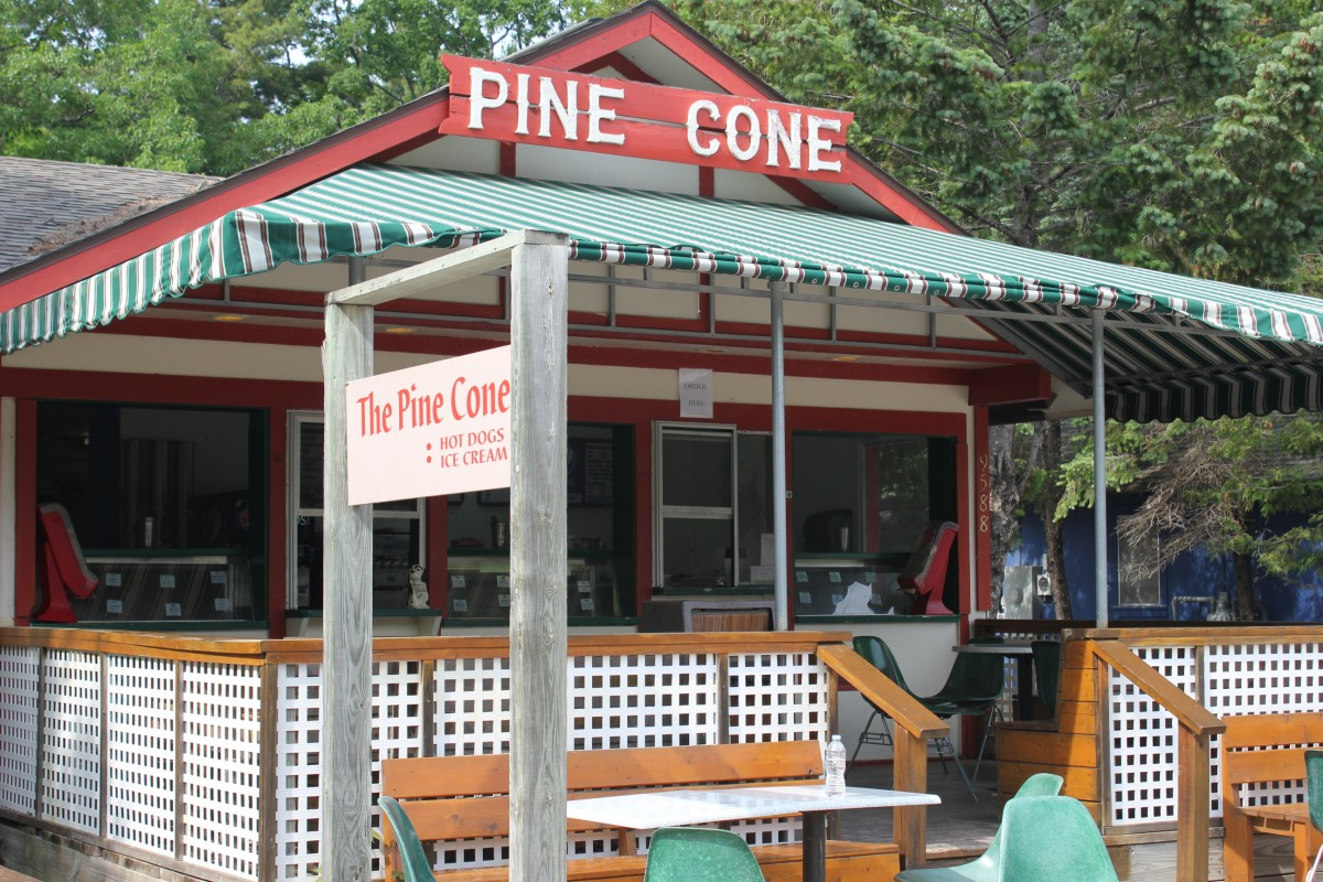 The Pine Cone storefront in the Summer