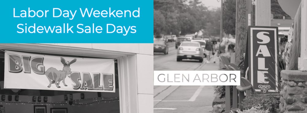 sidewalk sale days in glen arbor graphic
