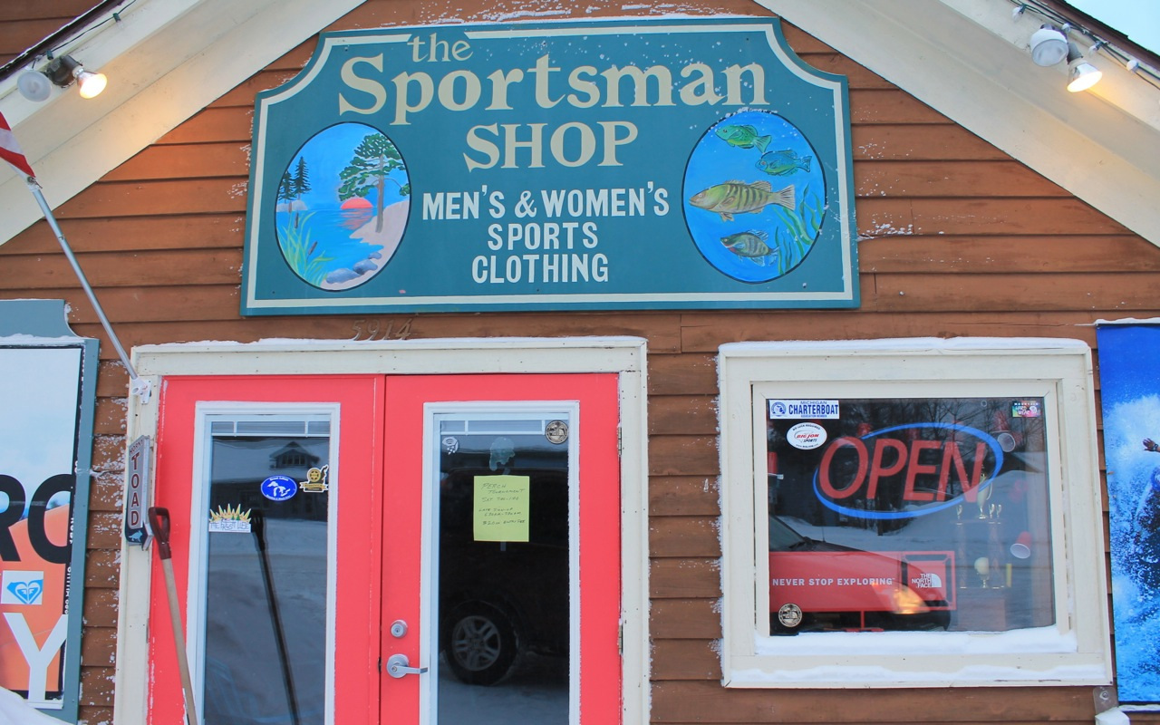 storefront of The Sportsman Shop