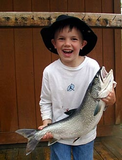 child holding his big catch