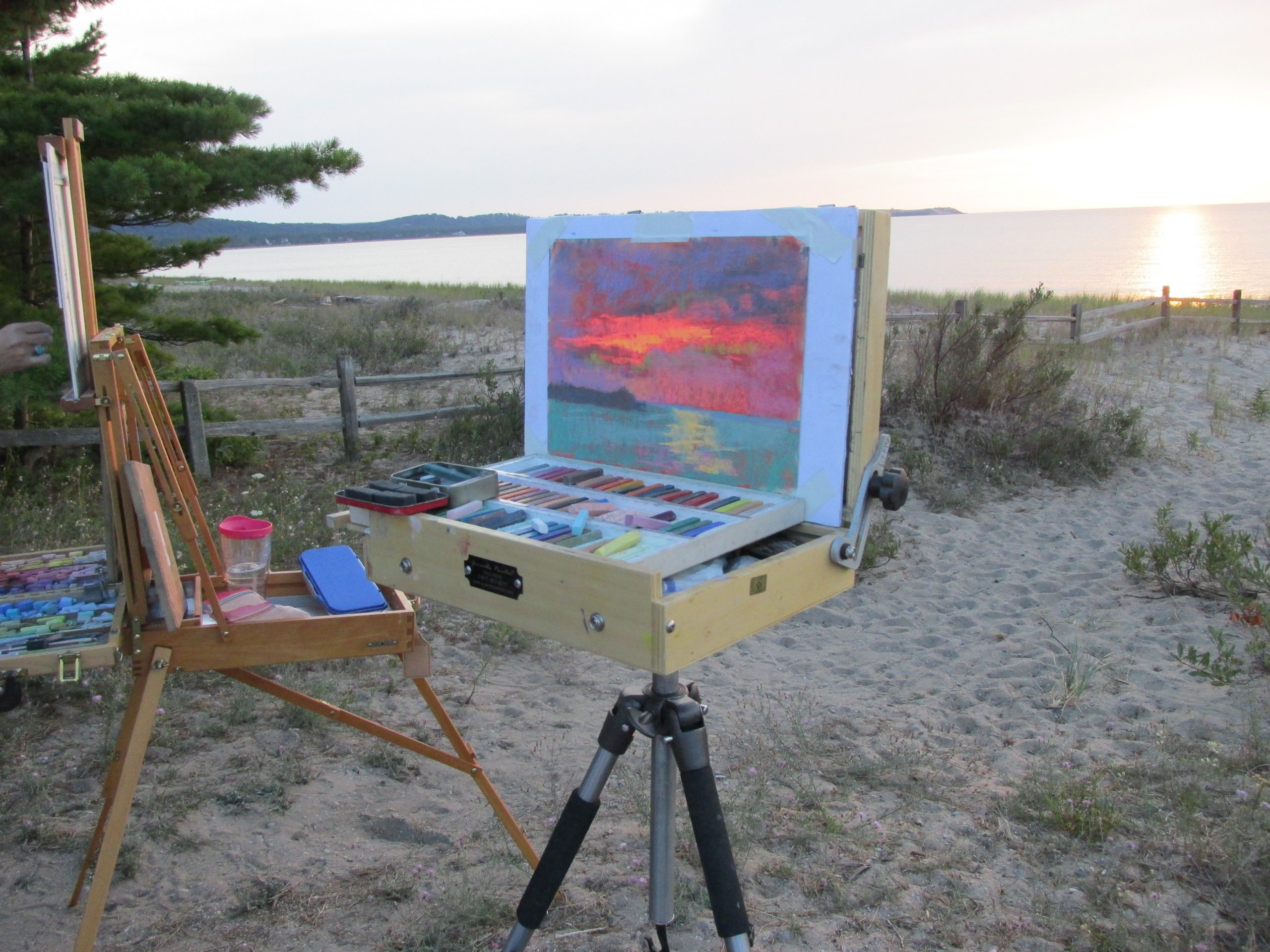 sundowner plein air paint out