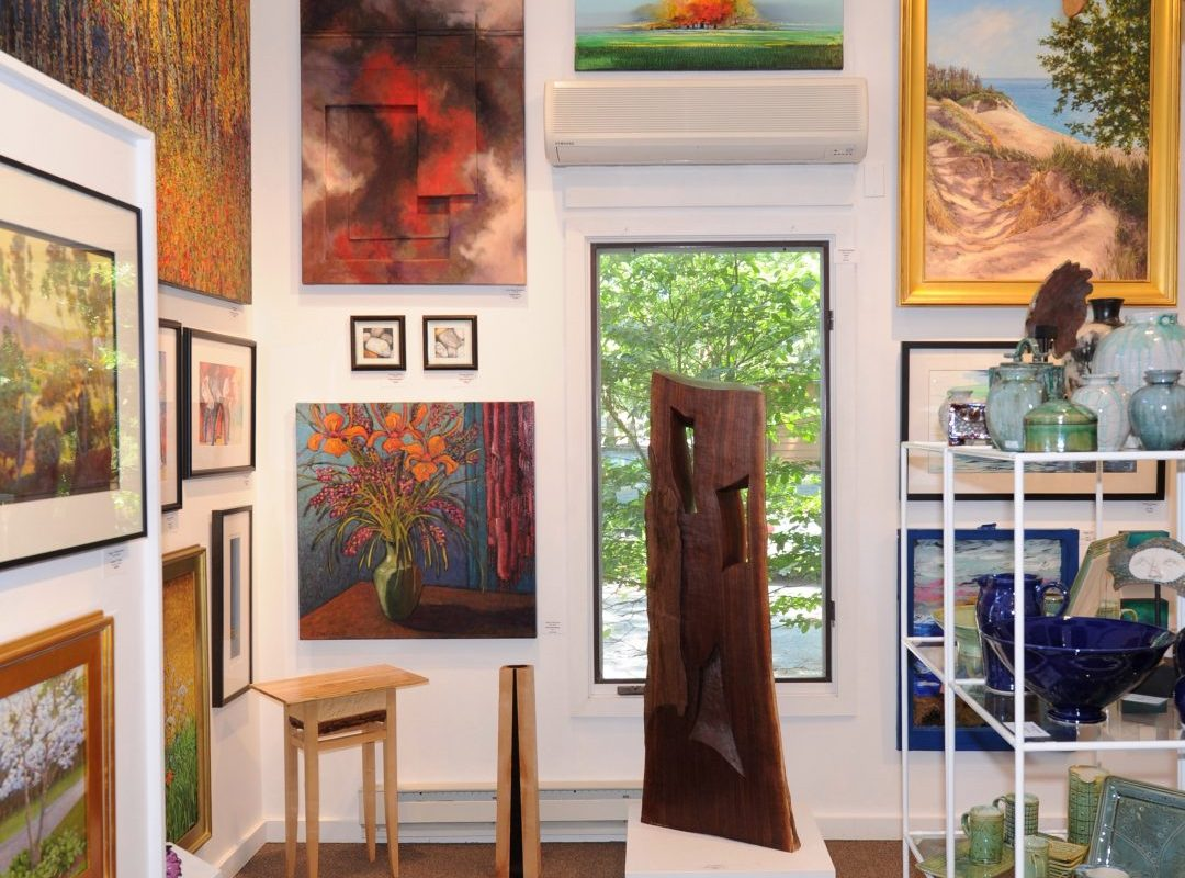 interior gallery shot of Synchronicity Gallery