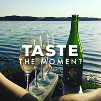 M22 Store Taste the Moment wine on water graphic