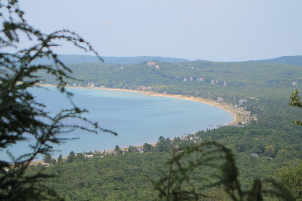 View of Sleeping Bear Bay and Glen Arbor from Alligator Hill