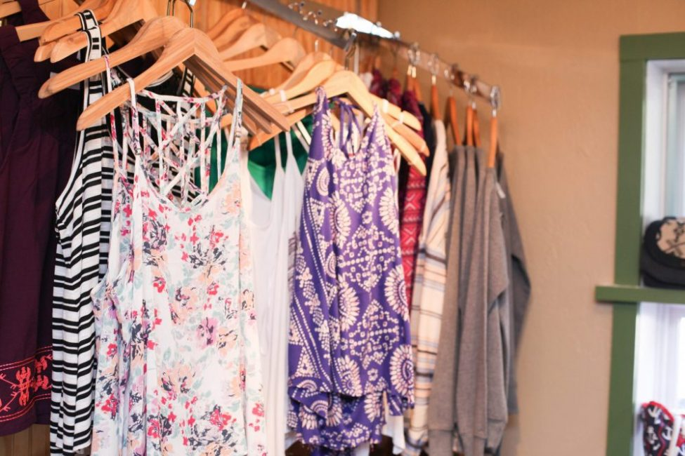 summer dresses on hangers at the M22 Store