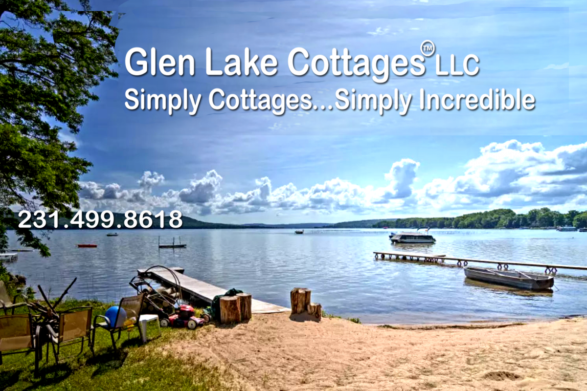 Glen Lake Cottages LLC view of lake at the waterfront