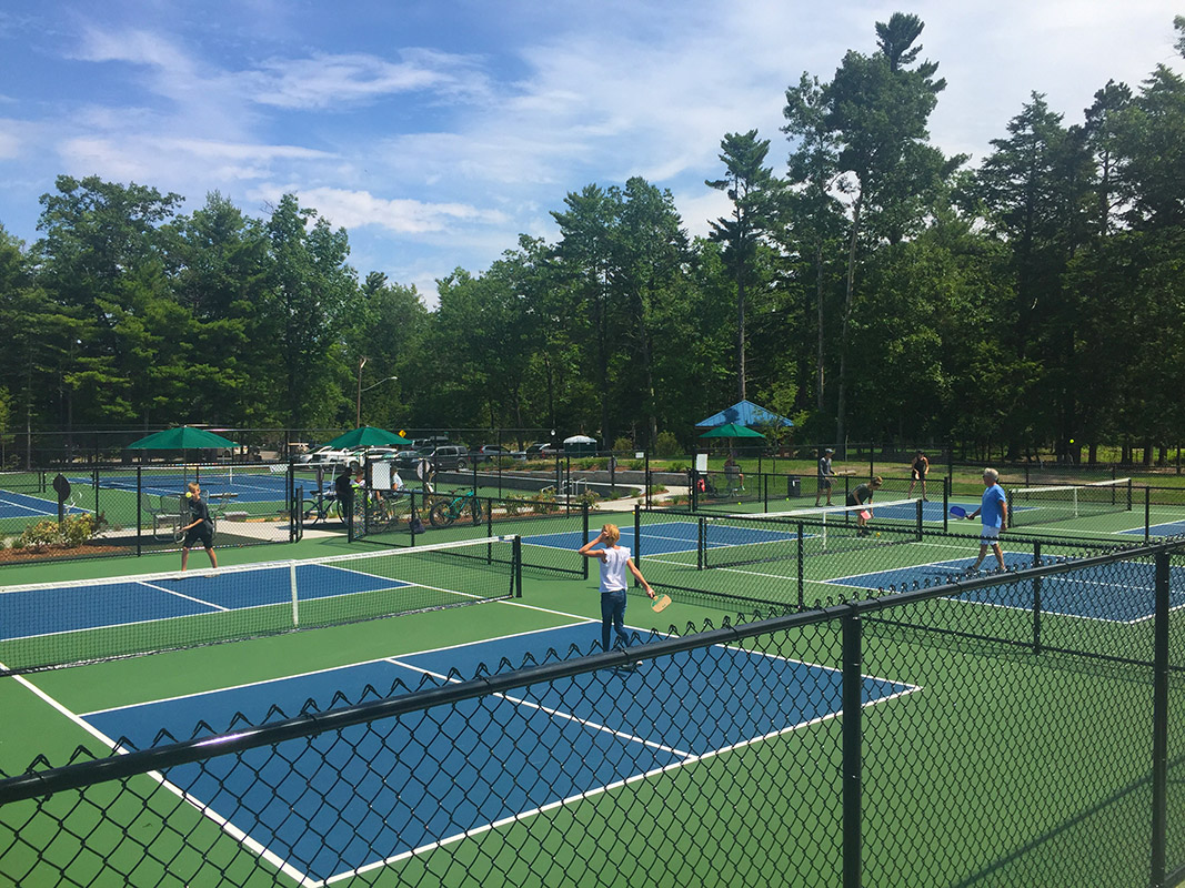 pickleball courts in Glen Arbor at Township Park