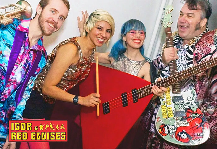 band photo of Igor and the Red Elvises