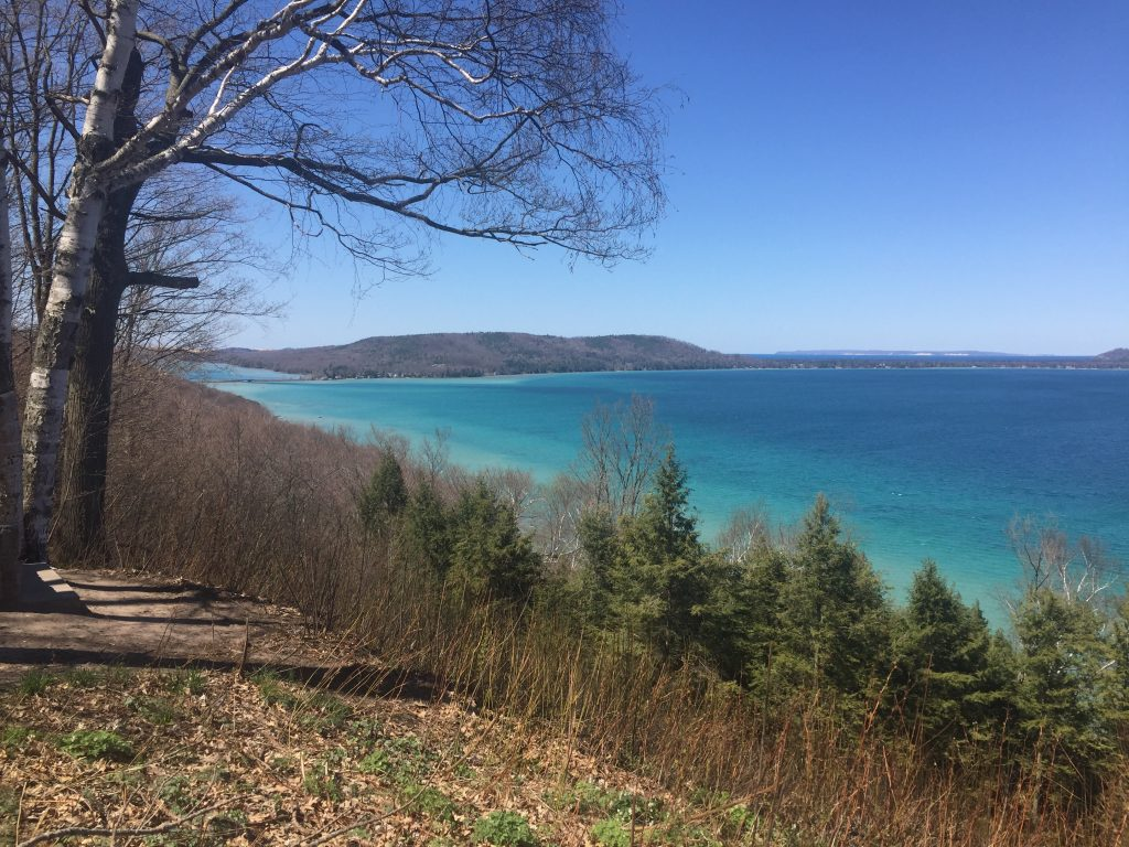 springtime view; inspiration point; Glen Lake