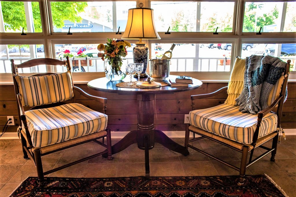 chairs and table, wine window seat from B&B in Glen Arbor