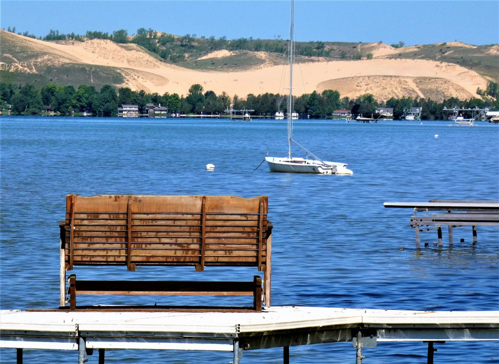 view of Dunes from dock on little Glen at Birch Shores