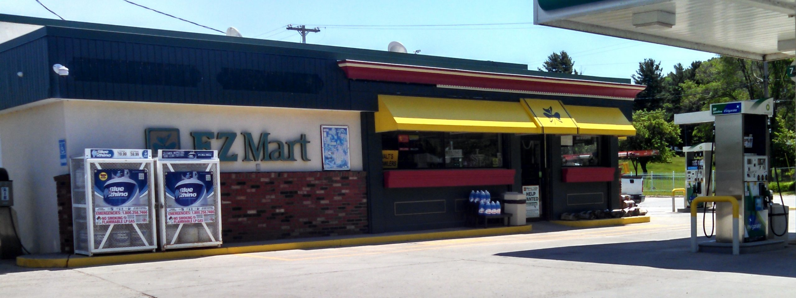 EZ Mart convenient store + gas station in Empire storefront