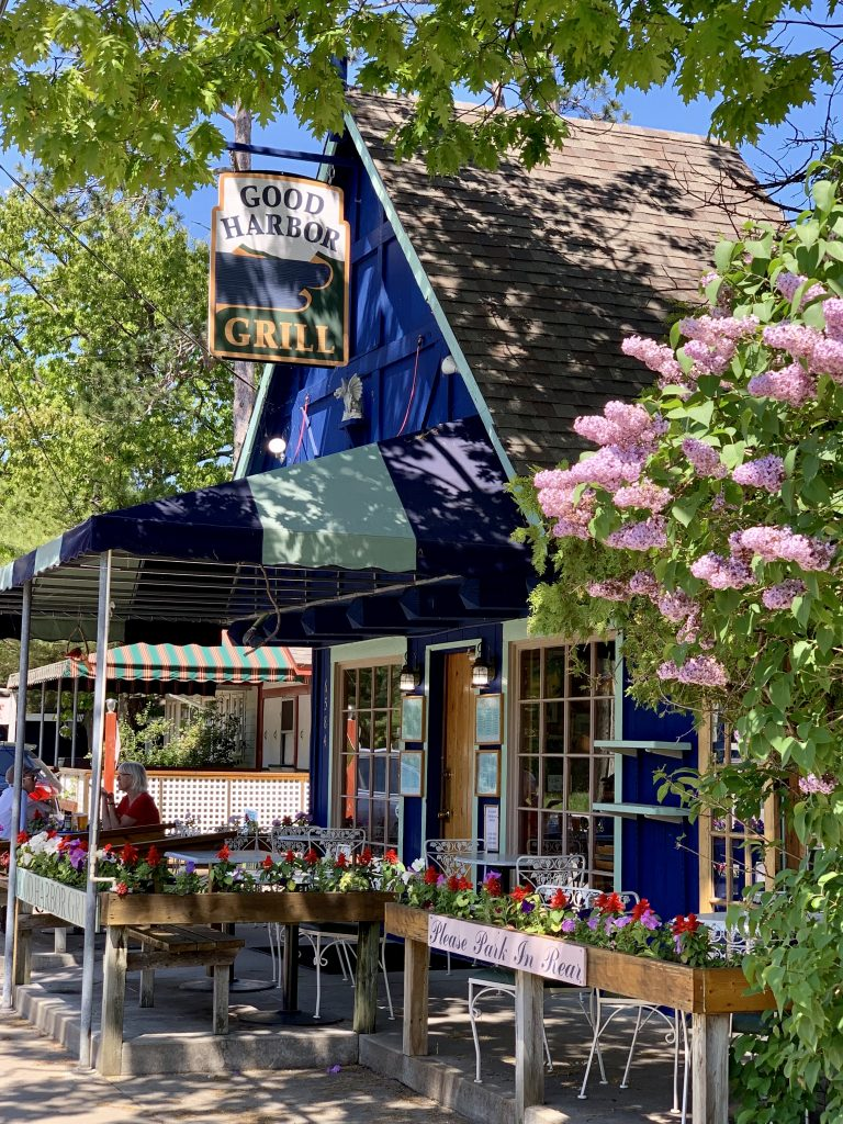 flowers in bloom at Good Harbor Grill restaurant