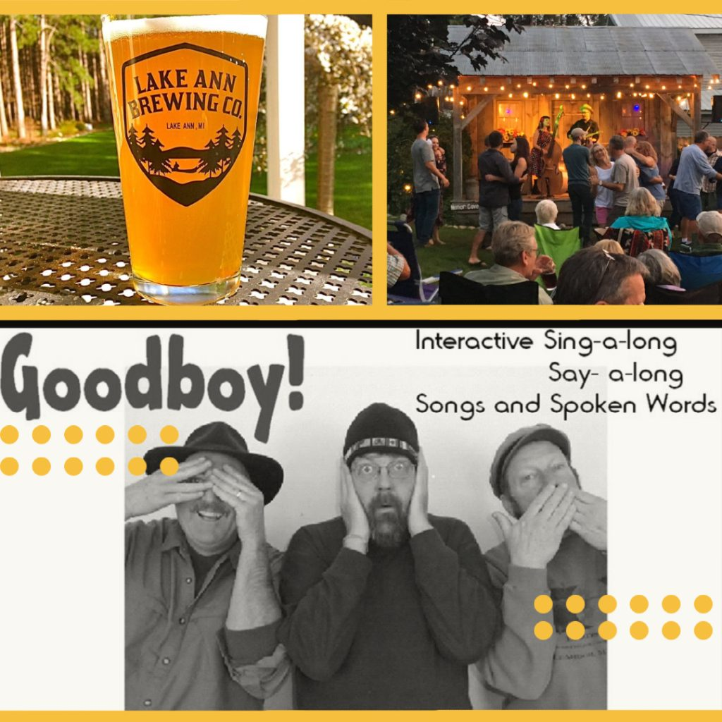 event graphic for good boy in concert at lake ann brewing